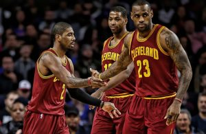 Kyrie Irving, Tristan Thompson, LeBron James
