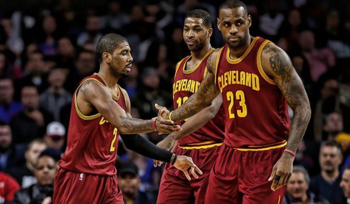 Kyrie Irving, Tristan Thompson, LeBron James