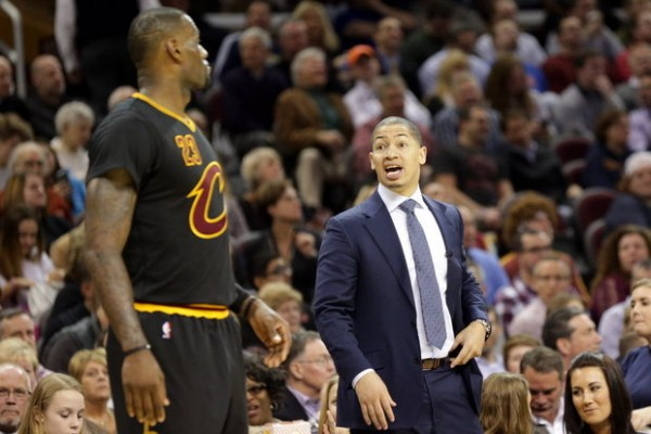 LeBron James and Tyronn Lue