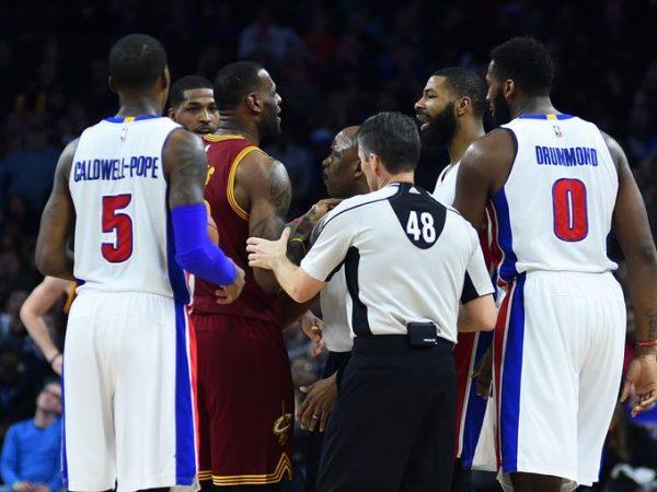 LeBron James Marcus Morris Detroit Pistons