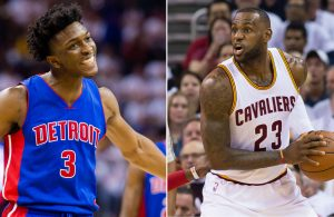 LeBron James and Stanley Johnson
