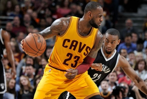 LeBron James vs. Brooklyn Nets on March 31, 2016