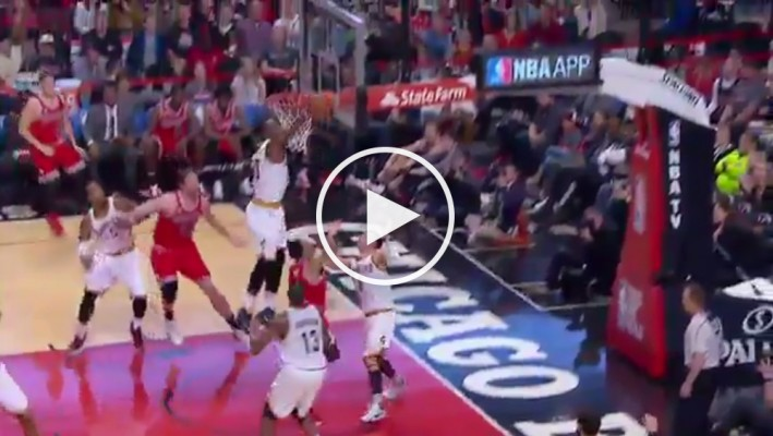 Video LeBron James Annihilates Derrick Roses Layup Attempt