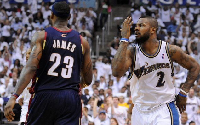 LeBron James and Deshawn Stevenson