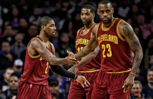 Kyrie Irving, LeBron James, Tristan Thompson