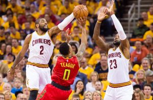 Irving and James vs. Atlanta Hawks on May 2, 2016
