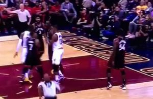 Video: LeBron James Gets in Bismack Biyombo's Face
