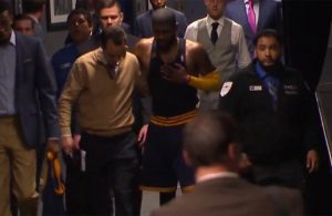 Video: Kyrie Irving Walks to the Locker Room in Noticeable Pain