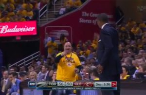 Video: Cavs Fan Yells at Toronto Head Coach to Get Back to His Side of Court