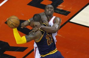 Video: Bismack Biyombo Takes Subtle Jab at LeBron's Reaction to Fouls