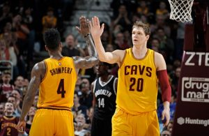 Iman Shumpert and Timofey Mozgov