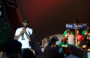 Video: LeBron Returns to Akron to Celebrate Title with Fans