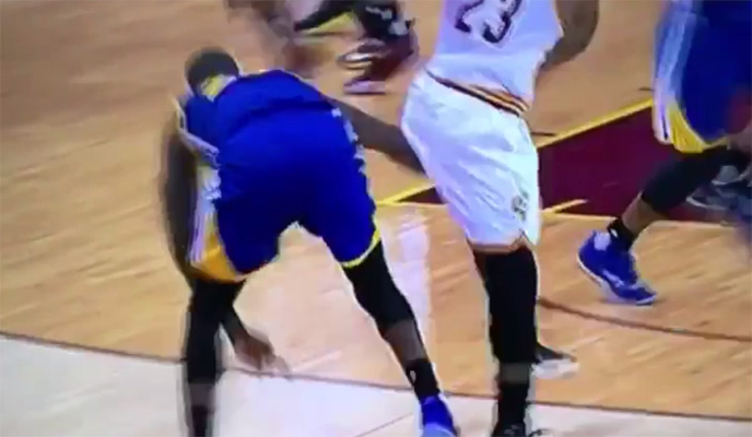 Footage Shows Green Punching James in Groin