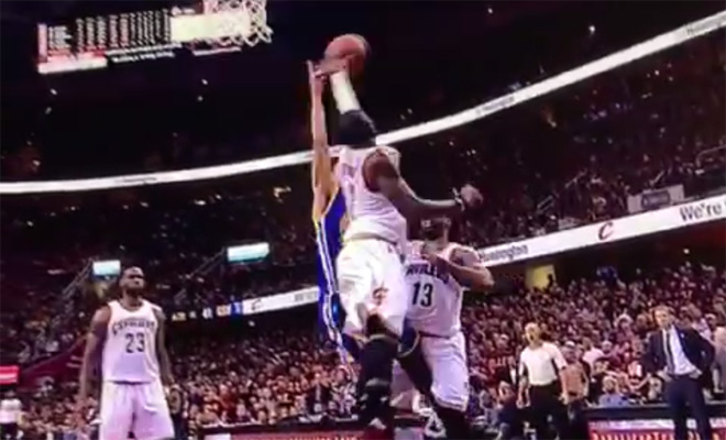 Video: Kyrie Irving Rejects Steph Curry With the Left Hand