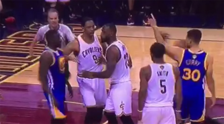 Video: LeBron James and Draymond Green Get Into Heated Altercation