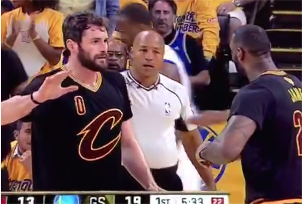 Video: LeBron James Seen Lecturing Kevin Love
