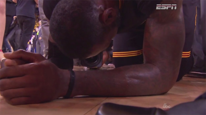 Video: LeBron Becomes Overcome With Emotion After Delivering Championship to Cleveland
