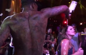 Video: J.R. Smith Pours Champagne Over Groupie at Cavs After Party