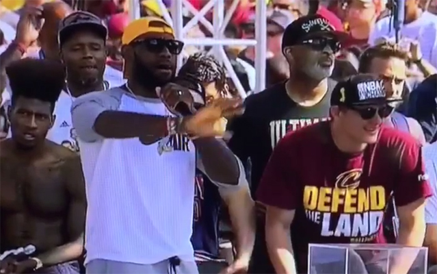 Video: LeBron James Roasts Stephen Curry During Championship Parade