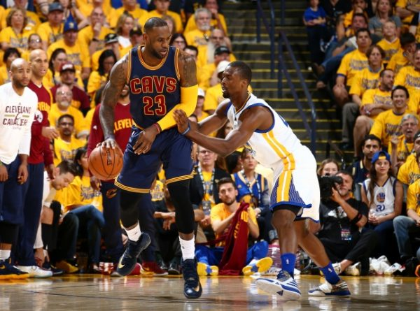 LeBron James and Harrison Barnes