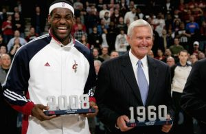 LeBron James and Jerry West