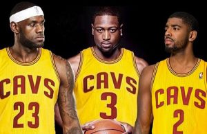 LeBron James, Dwyane Wade, and Kyrie Irving