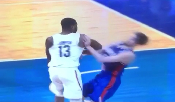 Video: Tristan Thompson Shoulder Checks French Opponent, Sends Him Flying