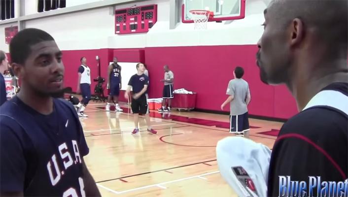 Kyrie Irving and Kobe Bryant Team USA