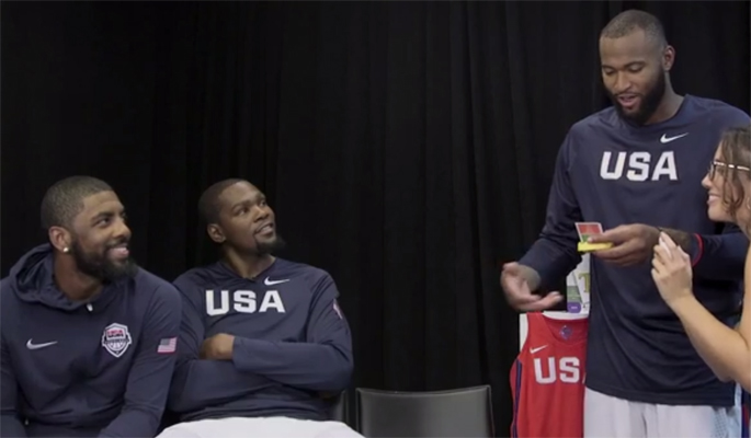 Video: Kyrie Irving Participates in Hilarious Game of Taboo with Kevin Durant and DeMarcus Cousins