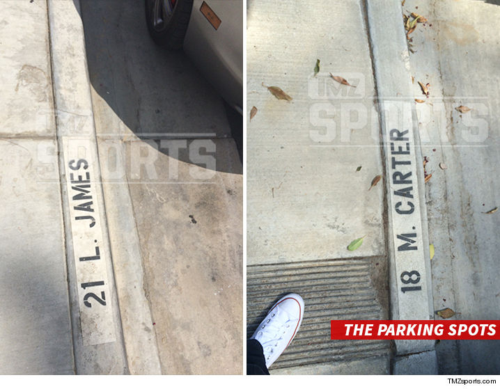 LeBron James Warner Bros. Studios Parking Lots