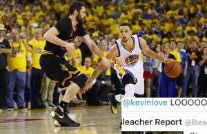 Kevin Love's defense on Stephen Curry