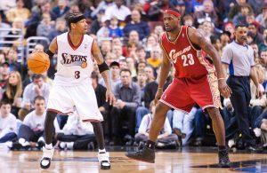 Allen Iverson and LeBron James