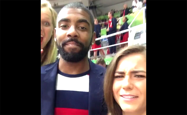 24d438c7d973 Video  Kyrie Irving Video Bombs Kassidy Cook at Rio Olympics ...