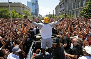LeBron James Cavs Championship Parade