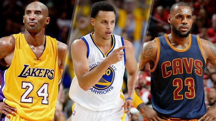 Kobe Bryant, Steph Curry, LeBron James