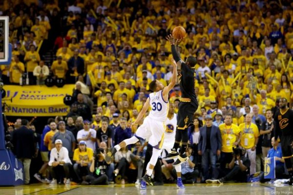 Kyrie Irving Game 7 Shot on Stephen Curry