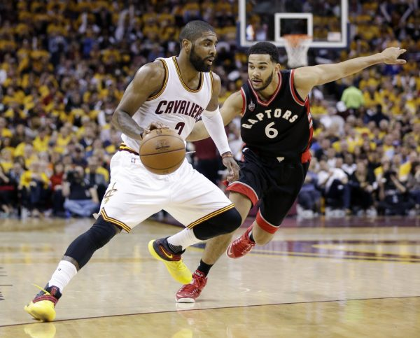 Kyrie Irving and Cory Joseph