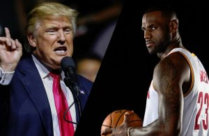 LeBron James and Donald Trump