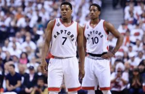 Kyle Lowry and DeMar DeRozan