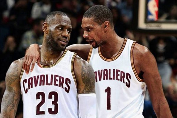 LeBron James and Chris Bosh Cleveland Cavaliers
