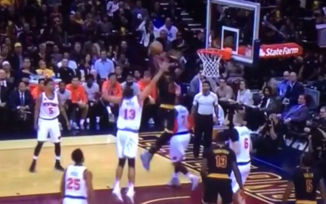 LeBron James dunk Joakim Noah