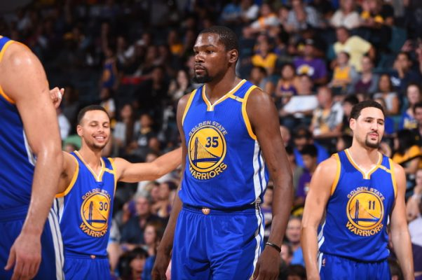 Steph Curry, Kevin Durant, Klay Thompson