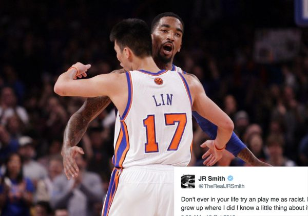 Jeremy Lin and J.R. Smith