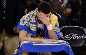 Klay Thompson Crying on Warriors Bench