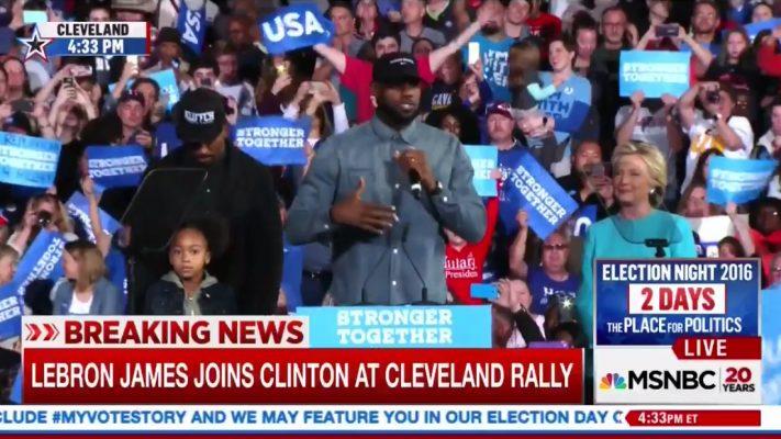 J.R. Smith, LeBron James, and Hillary Clinton