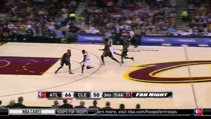 Kyrie Irving Pass to LeBron James