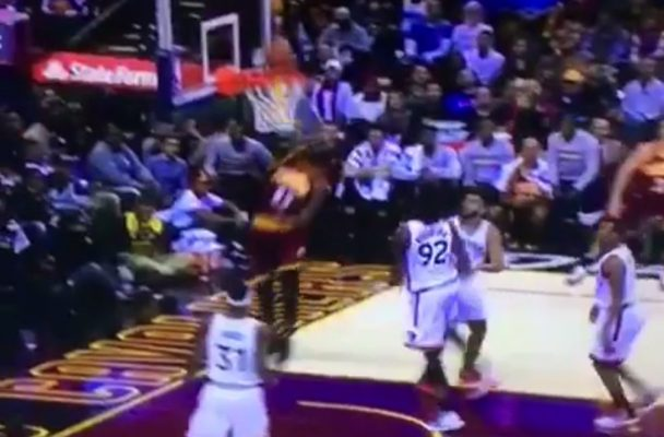 LeBron James Jackhammer Dunk
