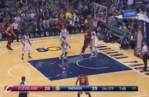 Tristan Thompson Dunk Pacers
