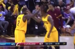 Kyrie Irving J.R. Smith Handshake