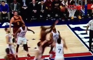 LeBron James putback dunk vs. 76ers